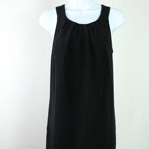 Oleg Cassini black shift dress exposed back zipper